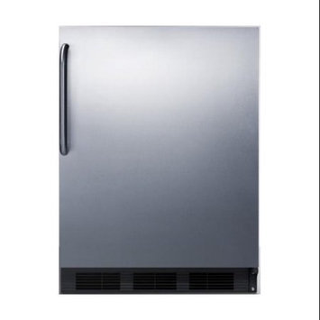 Summit Appliances FF6BSSTBADA ADA compliant all-refrigerator with stainless steel door, towel bar handle and black cabinet