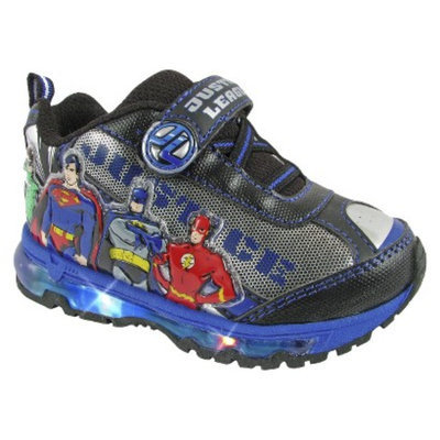 Toddler Boy's Justice League Light Up Sneakers - Silver 9