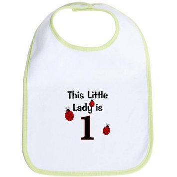 CafePress Newborn Little Lady Is 1! Bib