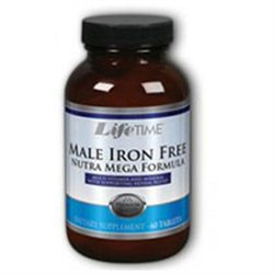 Male Iron Free Nutra Mega, Timed Release, 60 Tablets, LifeTime