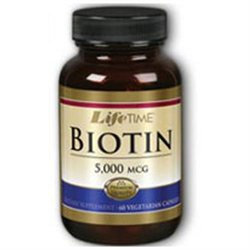 Lifetime Biotin - 5000 mcg - 60 Vegetarian Capsules