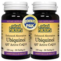 Ubiquinol 100mg Natural Factors 30 Softgel