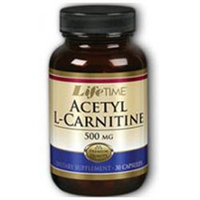 Acetyl L-Carnitine 500 mg, 30 Capsules, LifeTime