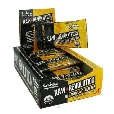 Raw Revolution Organic Live Food Bar Cashew & Agave Nectar,12 Pack