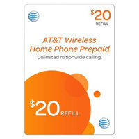 Pre-paid Cell Phone Card AT&T AT&T 20