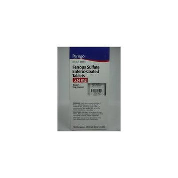 Ferrous Sulfate 324mg Enteric-coated Red Tablets 100count Blister Pack