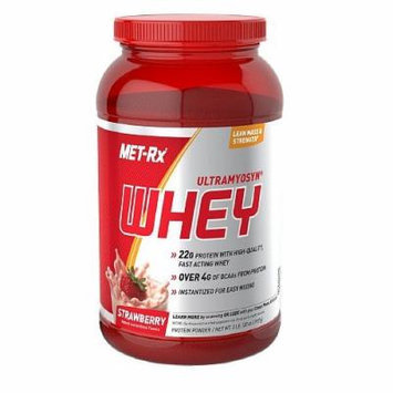 Met-Rx Ultramyosyn Whey 22g Protein, Strawberry 2 lbs (907 g)