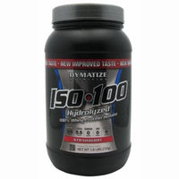 Dymatize ISO-100 Hydrolyzed 100% Whey Protein Isolate - Strawberry 1.6 LBS