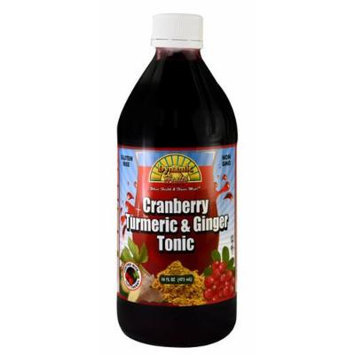 Dynamic Health Cranberry Turmeric and Ginger Tonic Supplement, 16 Ounce