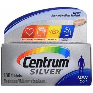 Centrum Silver Men 50 + Multivitamin/multimineral 100 Tablets (2 Pack)
