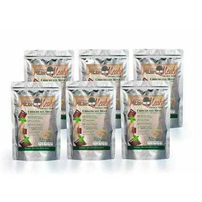 MegaOne Chocolate Mint Meal Replacement Shake - High Absorption Vegetarian Powdered Protein Mix - Hunger Control, Energy, Diet Weight Loss, Workout - With Fermented Super Foods