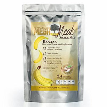 MegaOne Banana Meal Replacement Superfood Shake Mix - Vegetarian - Plant Based Protein - High Absorption - Appetite Control - Non-GMO - Gluten Free - For Diet / Weight Loss, Emergency Food Storage