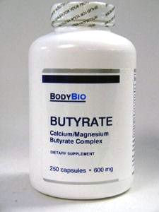 Butyrate 600 mg 250 caps by BodyBio/E-Lyte