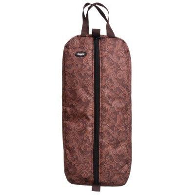 Tough-1 Heavy Nylon Print Bridle/Halter Bag - Tooled Leather Print