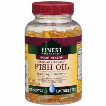 Finest Nutrition Fish Oil 1000 mg Dietary Supplement Softgels, 44 100 Each