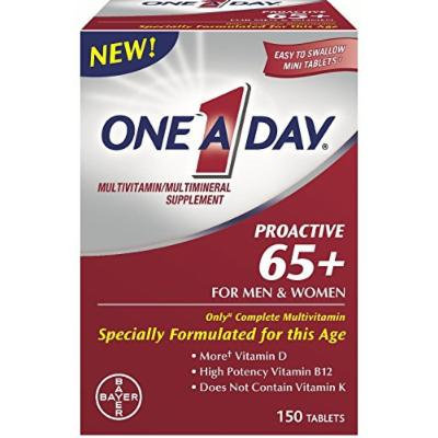 One A Day Proactive 65+ Multivitamins, 150 Count (3 Pack)