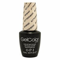OPI GEL COLOR Nail Polish Lacquer 2015 Soft Shades Spring Color - GC T66 Act Your Beige!, 0.5 Fluid Ounce