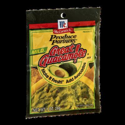 McCormick Produce Partners Great Guacamole Mix Mild