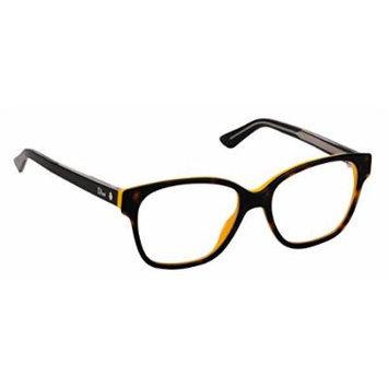 Christian Dior Women's Eyewear Frames Montaigne8 53mm Havana Yellow Black OGAP