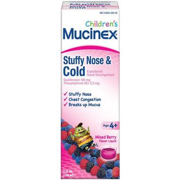 Mucinex Children's Liquid - Stuffy Nose & Cold Mixed Berry