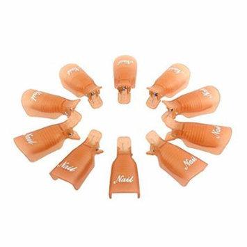 Sankuwen® 10pc Plastic Nail Art Soak Off Cap Clip Polish Remover Tool (Orange)