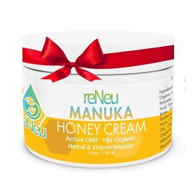 reNeu Manuka Honey Cream Soothing Moisturizer Skin Care with Active Manuka Honey and Aloe Vera