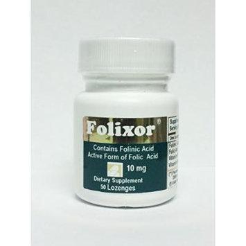 FOLIXOR 10 mg, 100% Folinic Acid -Bioactive form of Folic acid *Slow Dissolving Tablest (Lozenges)