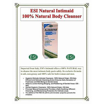 2-Bottles ESI Aloedermal Intimaid Gentle Intimate Body Cleanser W/Aloe- 100% Natural for Women and Men 8.45 Ounce Direct from Americas only Importer SAVE! Less then $1.12 per oz.