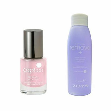 Bundle of Two Items: Caption Nail Polish in Yeah What She Said .34 oz with Nail Polish Remover 2 oz