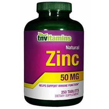 TNVitamins Zinc 50 Mg - 250 Tablets