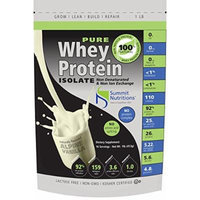 Non-GMO Pure Whey Protein Isolate: 1 lb - Alpine Vanilla - Instanized to Easy Mixing: Lactose Free: Kosher Certified: Naturally Flavored: Sweetened by Stevia: Gluten Free: Highest BCAAs and Glutamines: Zero Fat, Cholesterol, Carbohydrates, Fillers and...