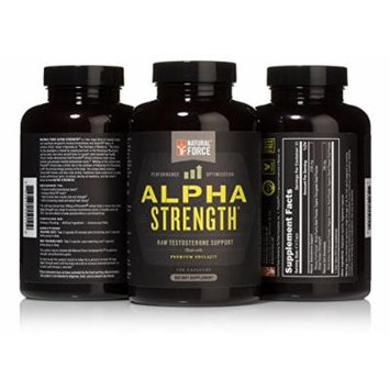 24% Increase in Testosterone - Natural Force ALPHA STRENGTH - Raw Testosterone Support 120 Capsules