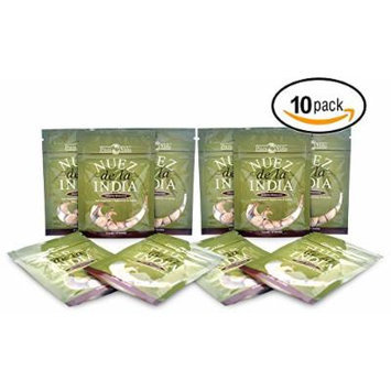Nuez de la India (10 packs of 12 Seeds/Semillas)- Authentic, Pure, Safe & Imported Fresh from the Amazon - Inspected & Packaged in an FDA Registered Facility - The Most Effective Nuez de la India on the Market