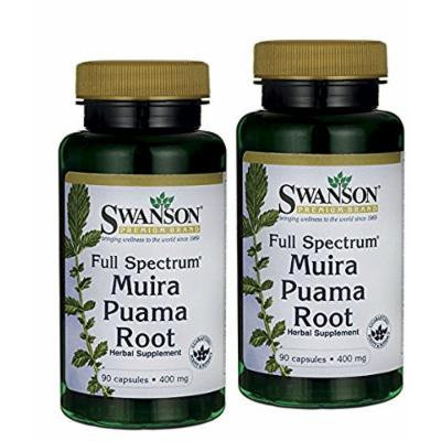 Pack of 2, Full-spectrum Muira Puama Root 400 Mg 90 Caps By Swanson