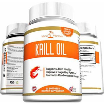 Pure Krill Oil Omega 3 Supplement - 30 Liquid Softgels - Potent Antarctic Antioxidant High in DHA and EPA Promotes Joint Flexibility, Heart Health, Mental Sharpness, and Immune Vitality - Made in USA and Certified By 3rd Party Lab