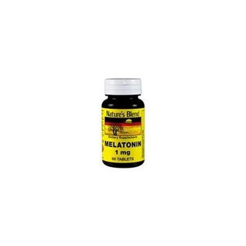 Nature's Blend Melatonin 1 mg Tablets 60 CT (PACK OF 2)