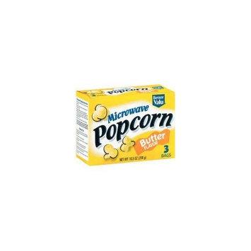 Better Valu Butter Flavor Microwave Popcorn (Case of 12)