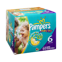 Pampers Baby Dry Size 6 Sesame Street Diapers - 60 CT