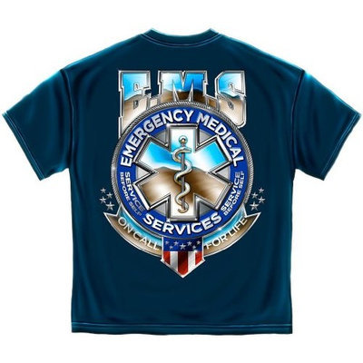 ERazorBits Apparel EMS On Call for Life - Emergency T-Shirt [2X-Large]