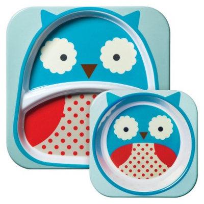 Skip Hop Zoo Melamine Kids & Toddler Tableware Set Owl by