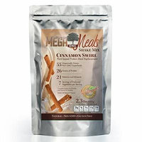 MegaOne Cinnamon Swirl Meal Replacement Shake - Non-GMO, Hunger Control, Diet & Weight Loss, Energy - Vegetarian High Protein Powder - Long Shelf Life Natural Gluten-Free Superfood Powdered Mix