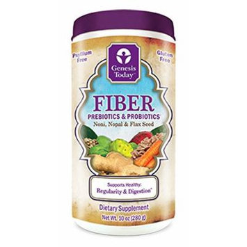 Genesis Today Fiber Prebiotics & Probiotics (10 Oz, 20 Day Supply)