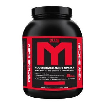 MTS Nutrition Machine Whey, Great Tasting Protein for Building Muscle, Chocolate, 5 Lbs (2270g)