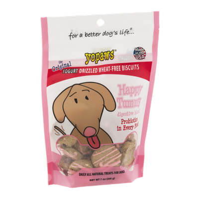Yopaws The Original Yogurt Drizzled Wheat-Free Biscuits Happy Tummy Digestive Blend