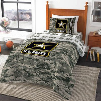 Northwest Company United States Army Camouflage Comforter - Green (Twin), Multicolor