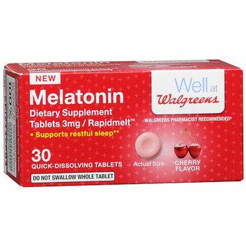 Walgreens Melatonin Melts 3mg 30 Count Cherry