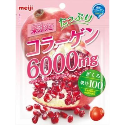 Meiji juice gummy collagen pomegranate 81gX6 bags
