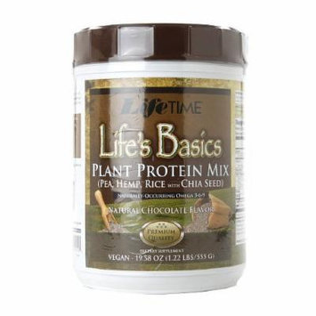 LifeTime Life's Basics Plant Protein Mix, Vegan, Chocolate 1.22 lbs