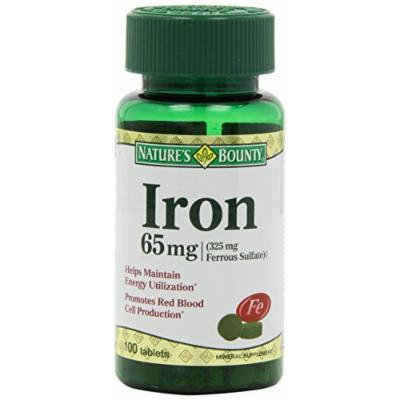 Nature's Bounty Iron 65 Mg Tablets 100 CT (PACK OF 5)
