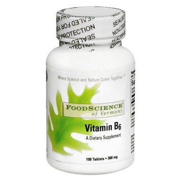 FoodScience of Vermont Vitamin B6 300 mg Dietary Supplement Tablets